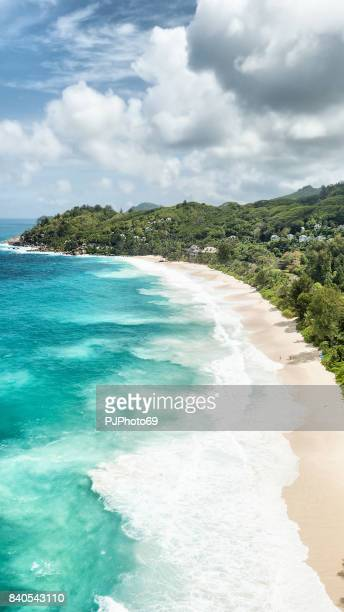 Aerial view of Anse Intendance - Mahe - Seychelles
