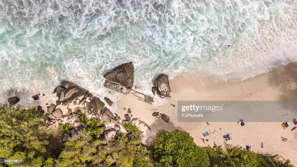 Aerial view of Anse Intendance - Mahe - Seychelles : Foto stock