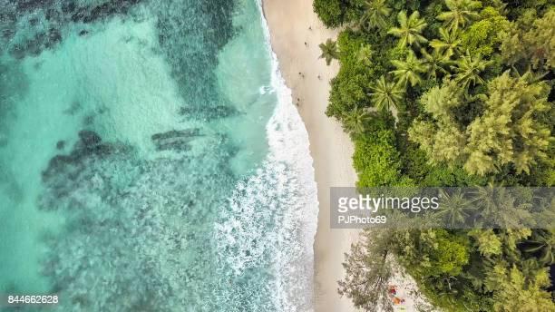 Aerial view of Anse Takamaka -  Mahe Island