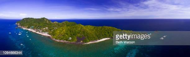 Aerial view of Apo Island, Philippines