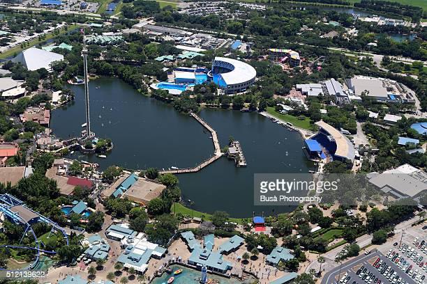Aerial view of Aquatica Seaworld, Orlando, Florida