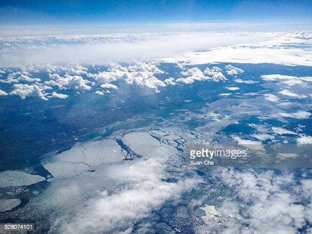 aerial view of arctic coast, alaska - xuan che stock pictures, royalty-free photos & images