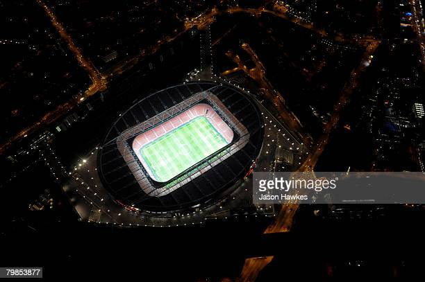Aerial view of Arsenal Football Club's Emirates Stadium on January 29 2008 in London