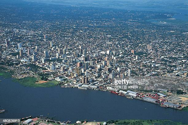 Aerial view of Asuncion in Paraguay