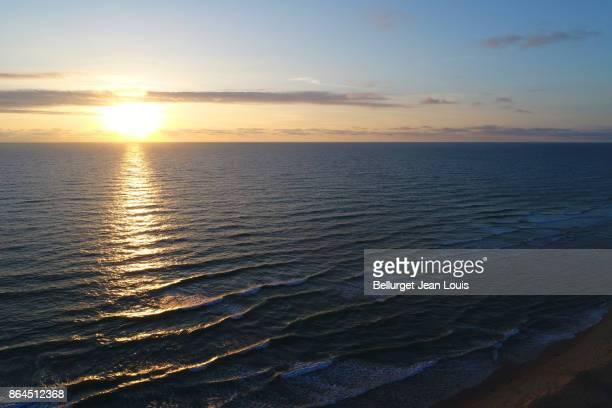 Aerial view of Atlantic coast