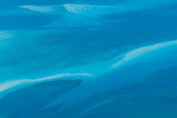 Aerial view of Atlantic Ocean near the Bahamas