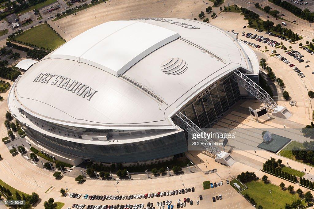 AT&Tスタジアムの航空写真 : ストックフォト