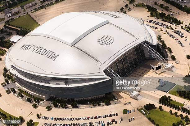 Aerial view of AT&T Stadium