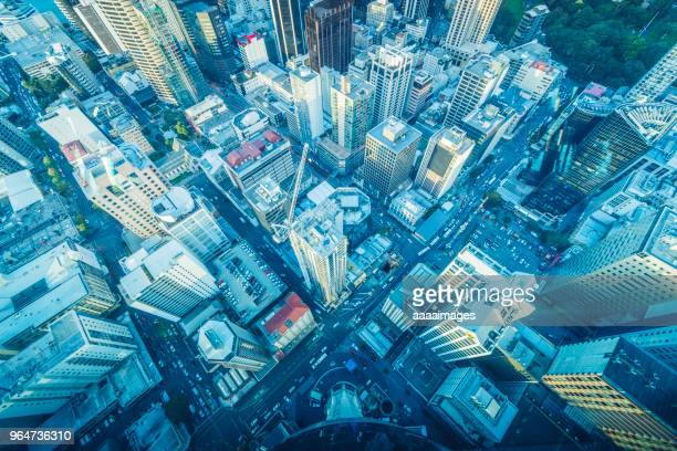 Aerial View of Auckland financial district,New Zealand