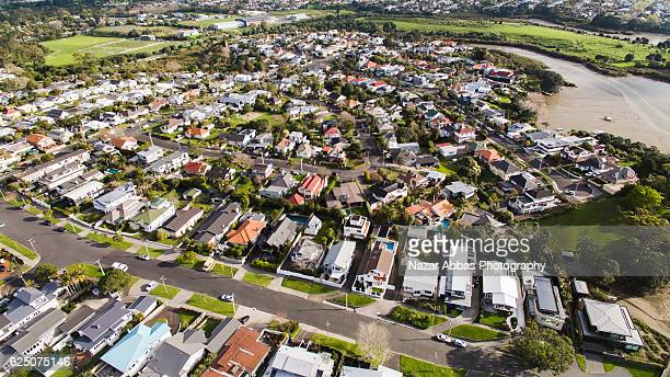 Aerial View Of Auckland Housing.