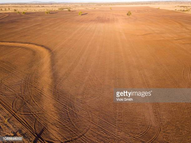 aerial view of australian agricultural farm land - drought stock pictures, royalty-free photos & images