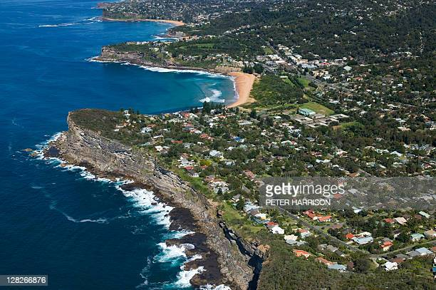 aerial view of avalon, new south wales, australia - north stock pictures, royalty-free photos & images