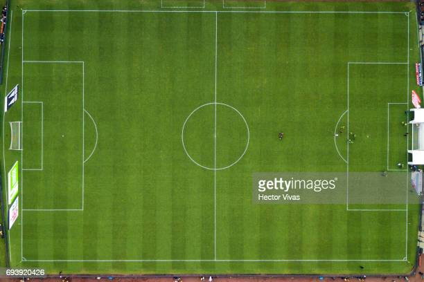 Aerial view of Azteca Stadium during the match between Mexico and Honduras as part of the FIFA 2018 World Cup Qualifiers at Azteca Stadium on June 08...
