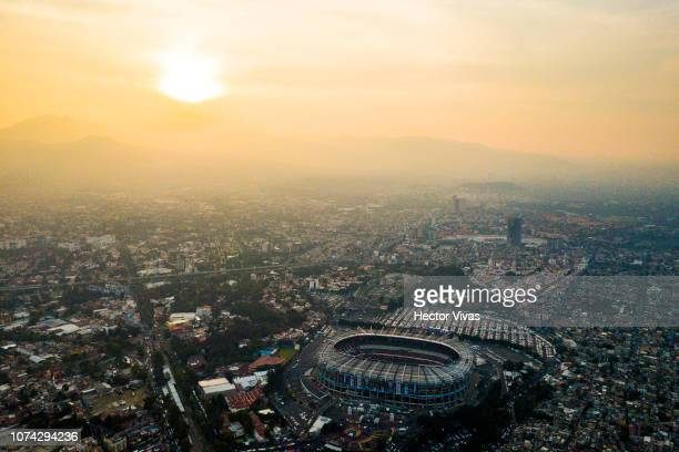 Aerial view of Azteca stadium prior the final second leg match between Cruz Azul and America as part of the Torneo Apertura 2018 Liga MX at Azteca...
