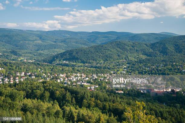aerial view of baden-baden on a sunny day - tal stock-fotos und bilder