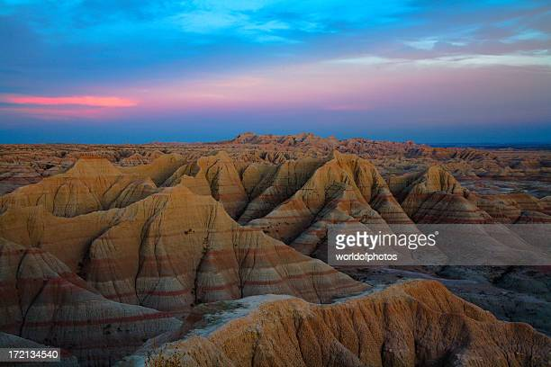 aerial view of badlands national park, south dakota - south dakota stock photos and pictures