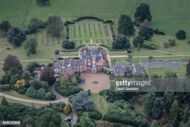 Aerial view of Bagshot Park the Royal residence of Prince Edward, Earl of Wessex and Sophie, Countess of Wessex on June 09, 2009. This brick and...