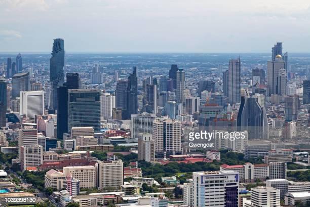 luchtfoto van bang rak - gwengoat stockfoto's en -beelden
