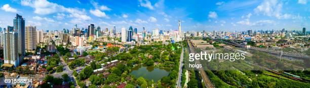 Aerial view of Bangkok city, Thailand