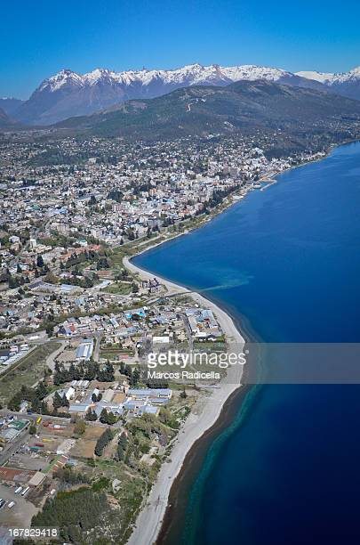 aerial view of bariloche, patagonia argentina - radicella stock photos and pictures