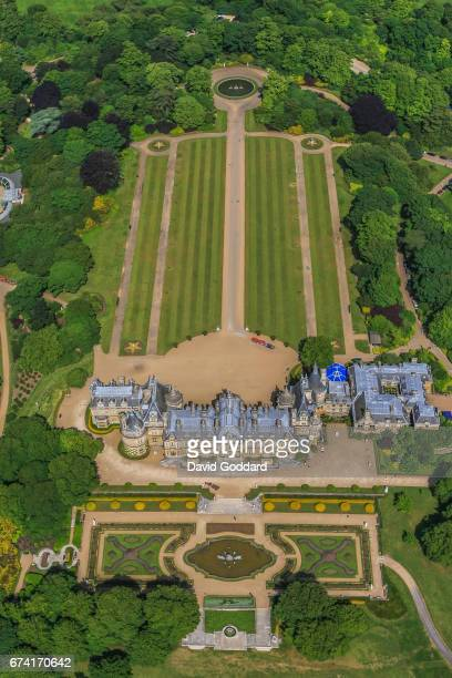KINGDOM JUNE 22 Aerial view of Baron Ferdinand de Rothschild's Waddesdon Manor on June 22 2010 This 1870s Renaissance châteaux is located between...