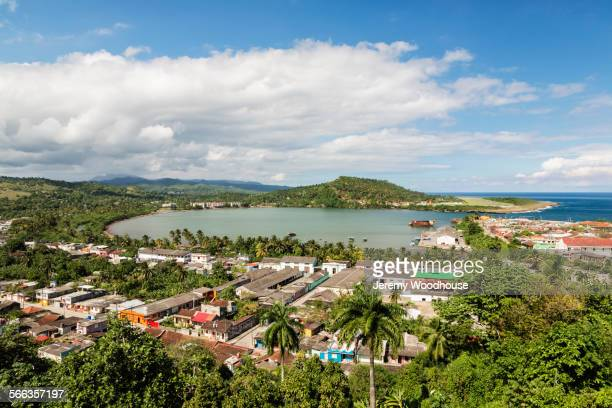 aerial view of bartacoa bay, guantanamo, cuba - guantanamo bay stock pictures, royalty-free photos & images