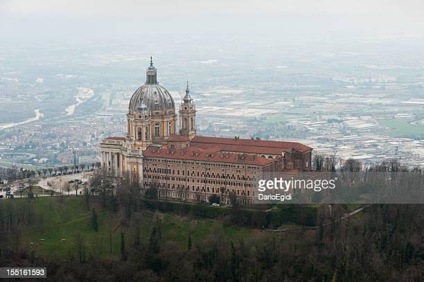 Veduta aerea di Superga Chiesa, Torino, Piemonte, Italia