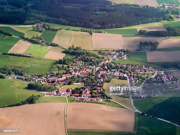 Luftbild von bayerischen Landschaft