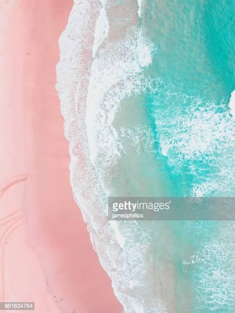 Aerial view of beach, Cronulla, New South Wales, Australia