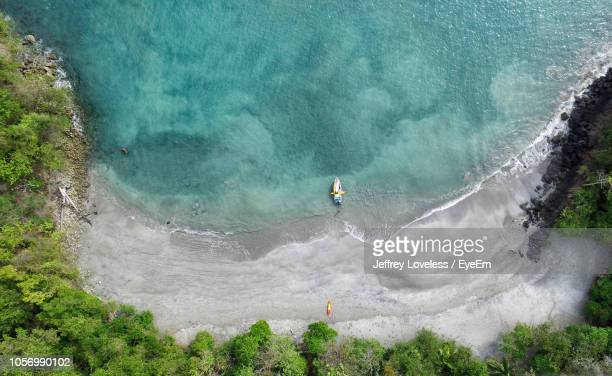 aerial view of beach - costa rica stock pictures, royalty-free photos & images