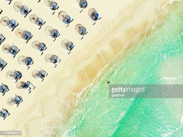 aerial view of beach - izmir stock pictures, royalty-free photos & images