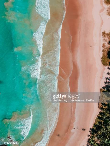 aerial view of beach - el nido stock pictures, royalty-free photos & images