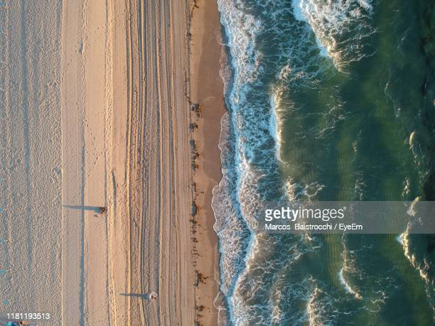 aerial view of beach - delray beach stock pictures, royalty-free photos & images
