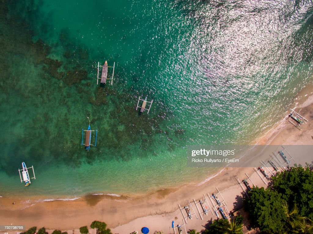 Aerial View Of Beach : Stock Photo