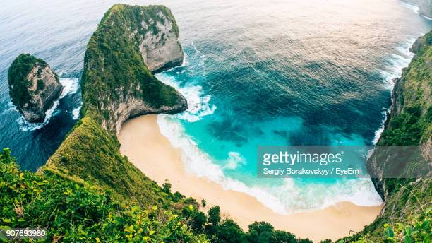aerial view of beach - indonesia stock pictures, royalty-free photos & images