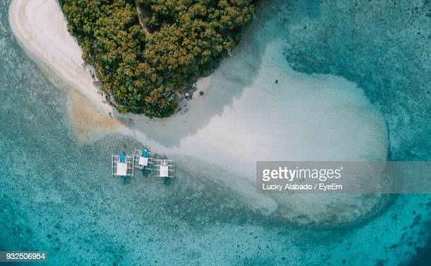 aerial view of beach - cebu stock photos and pictures