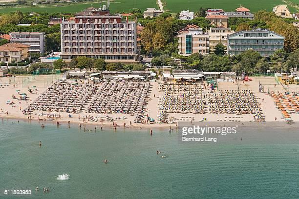 Aerial View of beach resorts