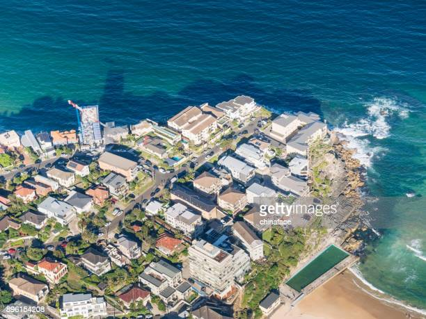 aerial view of beach, Sydney