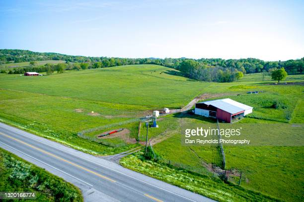 aerial view of beautiful agricultural fields - georgia country stock pictures, royalty-free photos & images