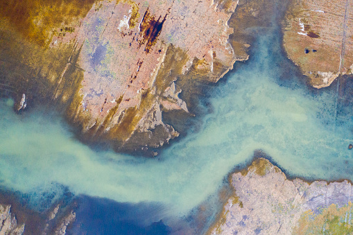 Aerial view of beautiful natural shapes and textures 1172206644