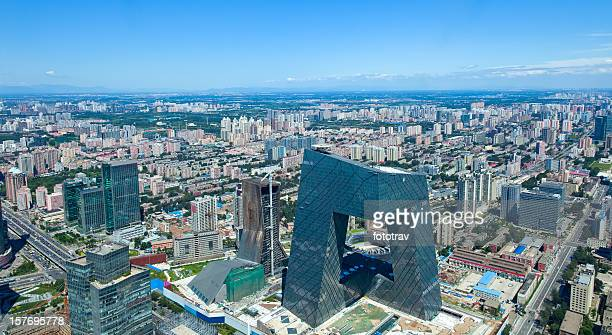 Aerial view of Beijing, capital of China