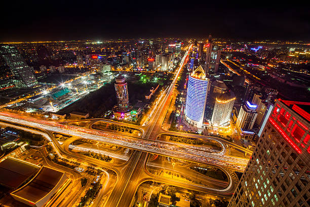 Aerial View Of Beijing CBD Area Wall Art
