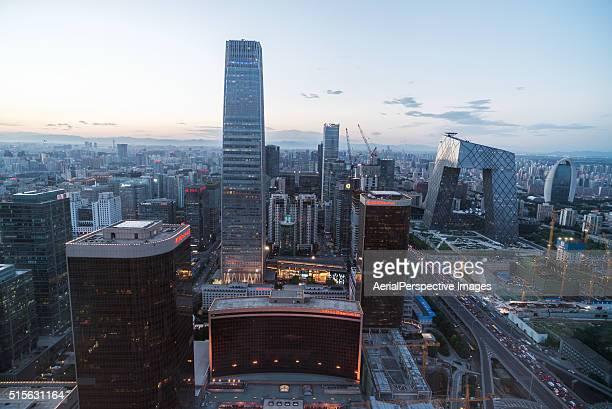 Aerial view of Beijing CBD area