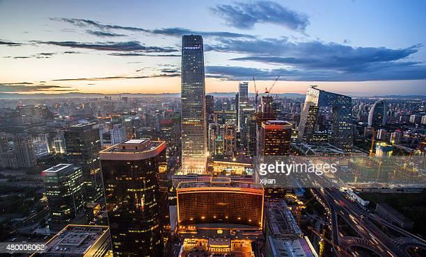 Aerial view of Beijing night