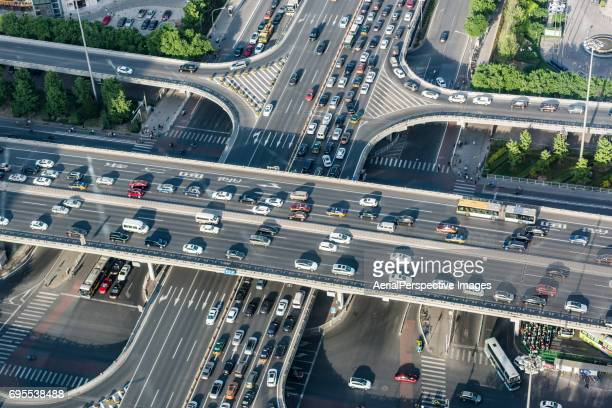 Aerial View of Beijing Traffic