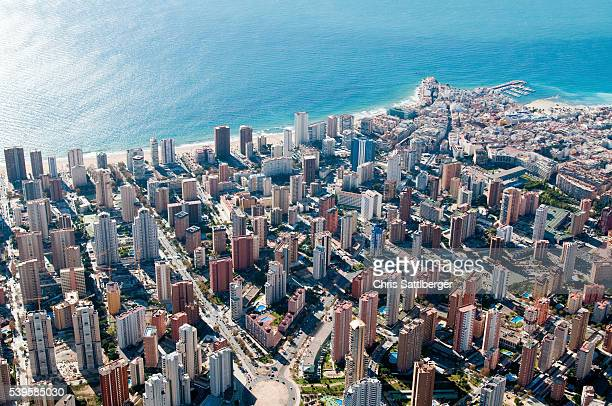 Aerial View of Benidorm