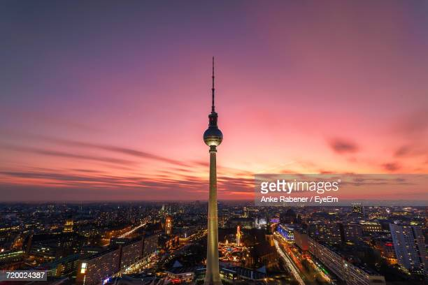 Aerial View Of Berlin Lit Up At Night