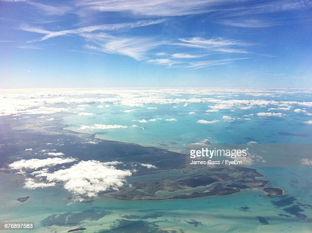 Aerial View Of Bermuda Triangle Against Sky