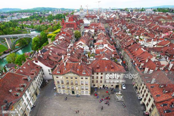 Aerial view of Berne old town, Switzerland