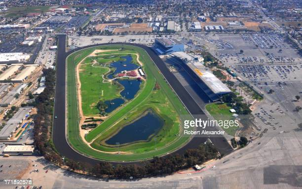 Aerial view of Betfair Hollywood Park near Los Angeles California The owners of the 75yearold horse racing track say they plan to close the track by...